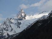 Mountain Peak. Caucasus Mountains. Dombay, Peak Ine. poster