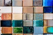 Ceramic Multicolor Tiles, Geometric Texture For Decoration Design, Contemporary Art, Abstract Creati poster