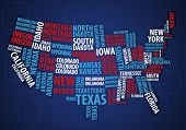 USA wordcloud map