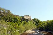 stock photo of swales  - A picture taken from the river of Richmond castle in north yorkshire - JPG
