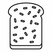 Breakfast Toast Icon. Outline Breakfast Toast Vector Icon For Web Design Isolated On White Backgroun poster