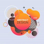 Dynamical Colored Form Gradient Abstract Banner Flowing Liquid Shape Fluid Color Badge Modern Graphi poster