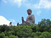 pic of lantau island  - Giant statue of Buddha in natural surroundings on Lantau island Hong Kong - JPG