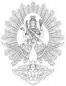 stock photo of tantric  - Mahamayuri is a Buddhist Deity in Mahayana Buddhism - JPG