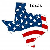 image of texas flag  - us state of texas with stars  - JPG