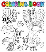 foto of fireflies  - Coloring book cute bugs 2  - JPG