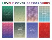 Lovely Cover Backgrounds. Admirable Geometric Patterns, Uncommon Vector Illustration. poster