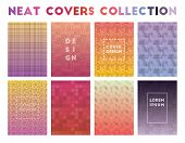 Neat Covers Collection. Adorable Geometric Patterns, Optimal Vector Illustration. poster