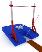 foto of pole-vault  - 3D render of a man competing in the pole vault - JPG