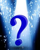 picture of question-mark  - bright spotlight with a question mark in it - JPG