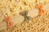 Colorful Mixed Picture With Spaghetti And Noodles poster