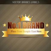 original no. 1 brand product label poster