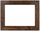 Wooden Picture Frame Isolated with Clipping Path
