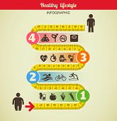 stock photo of watch  - Fitness and diet infographic - JPG