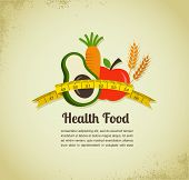 image of food pyramid  - Health food and diet background - JPG