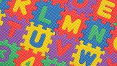 image of kiddie  - Kiddies style Colored Alphabet and number blocks - JPG