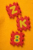 foto of kiddy  - Kiddies style Colored Alphabet and number blocks - JPG