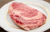 image of wagyu  - Premium quality kobe beef ribeye steak in plate - JPG