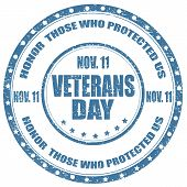 picture of veterans  - Grunge rubber stamp  with text Veterans Day - JPG