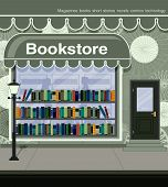 image of librarian  - Bookstores in the city and adjacent to the road - JPG