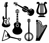 foto of string instrument  - Vector image Icons of string musical instruments - JPG