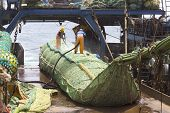 stock photo of catch fish  - Fishing vessel - JPG