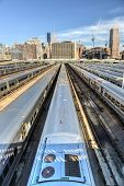 picture of railcar  - The West Side Train Yard for Pennsylvania Station in New York City from the Highline - JPG