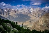 pic of skardu  - Beautiful mountain valley in the Karakorum near Khaplu in Central Karakorum National Park - JPG