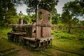 pic of crippled  - The disused Don Det narrow gauge portage railway - JPG