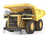 image of dumper  - Dumper industrial isolated at the white background - JPG