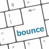 foto of bouncing  - bounce button on computer pc keyboard key - JPG