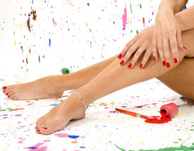 stock photo of painted toes  - Woman - JPG