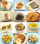 pic of tripe  - Collage of cooked dishes typical of Spain - JPG