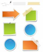 picture of staples  - Vector labels with staples - JPG