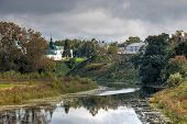 picture of paysage  - Kamenka River in the city of Suzdal - JPG
