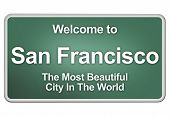 picture of cisco  - Green village sign with friendly Welcome Greetings - JPG