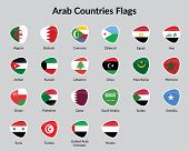 stock photo of continent  - Arabic Continent countries flags vector - JPG