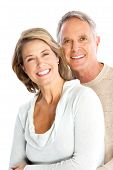 image of senior men  - Happy seniors couple in love - JPG
