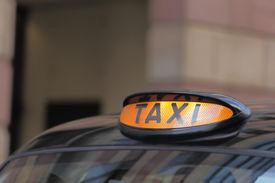 stock photo of hackney  - Taxi car in London  - JPG