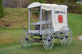stock photo of ambulance  - 1800s Ambulance - JPG