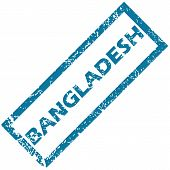 picture of bangladesh  - Bangladesh grunge rubber stamp on a white background - JPG