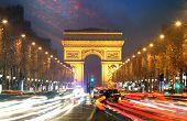 foto of charles de gaulle  - Champs elysees and Arc de Triumph Paris - JPG