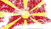 foto of macedonia  - Flag of Macedonia with old texture - JPG