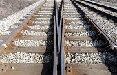 pic of railroad yard  - Rail switches in yard off main line - JPG