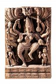 pic of shiva  - Hindu deity Shiva or Vishnu isolated over a white background - JPG