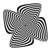 picture of distort  - Design monochrome whirlpool motion illusion background - JPG