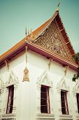 stock photo of gable-roof  - Typical architecture roofs in Buddhist monasteries - JPG