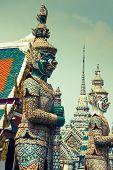 pic of budha  - Demon Guardian Wat Phra Kaew Grand Palace Bangkok - JPG