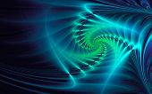 picture of neon green  - Abstract fractal background - JPG