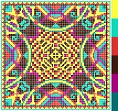 picture of stitches  - geometric square pattern for cross stitch ukrainian traditional embroidery - JPG